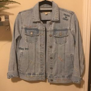 light blue Pacsun denim jacket